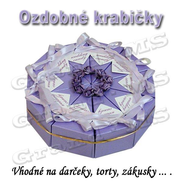 f9189984d Ostatný tovar: Ozdobná krabička na tortu či darček, fialová - set