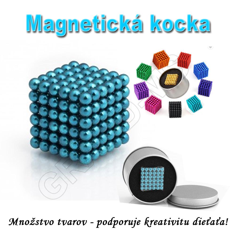 Magnetická NEOKOCKA - NEOCUBE magnetické guličky tyrkysové 216ks, 5mm