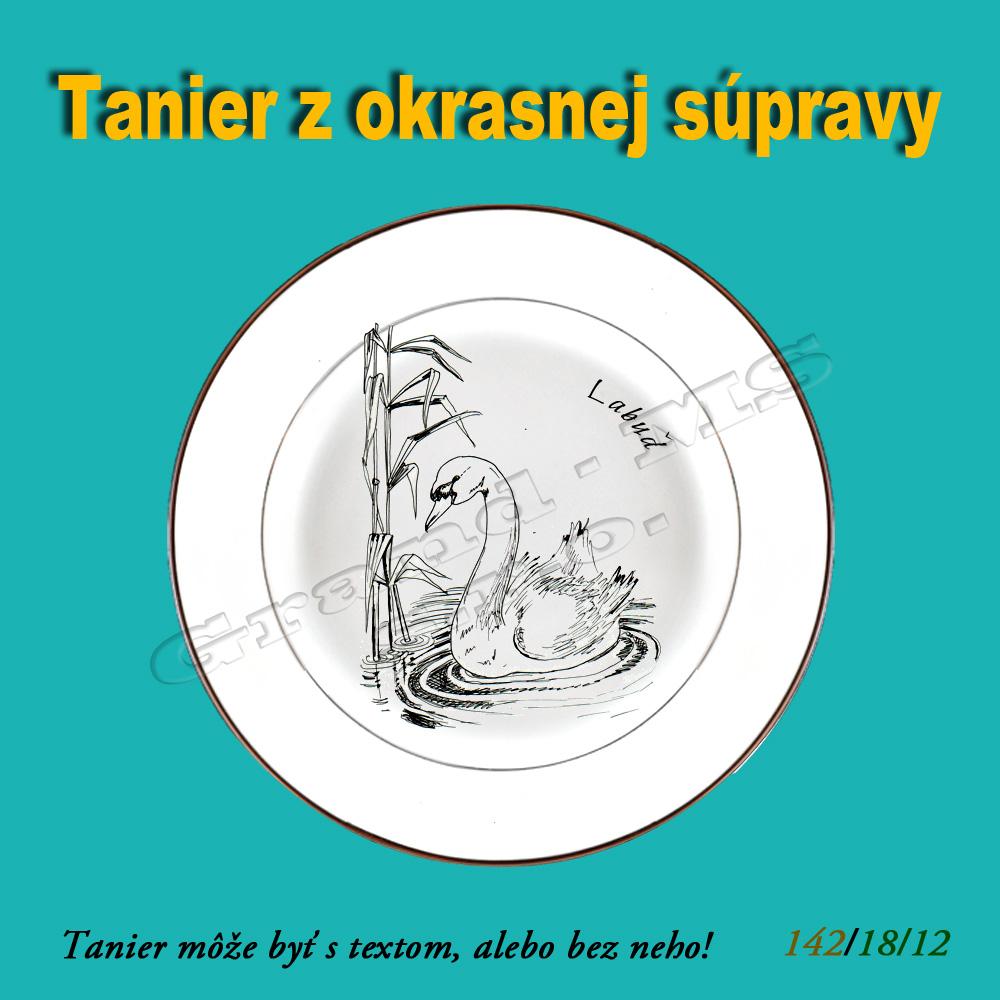 Ostatný tovar   Ozdobný obedový tanier - Labuť 291371965c0