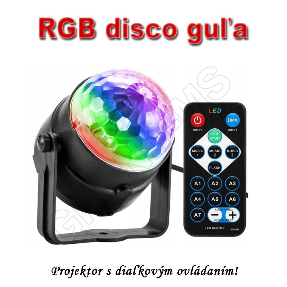 Projektor - RGB disco guľa
