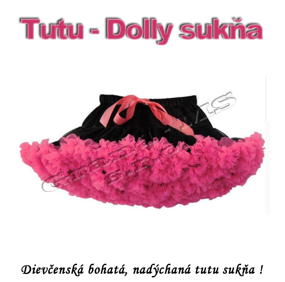 87fa0d9d36ed Tutu - Dolly sukňa pre dievčatá od 6 do 10 rokov - čierna so sýto ružovou