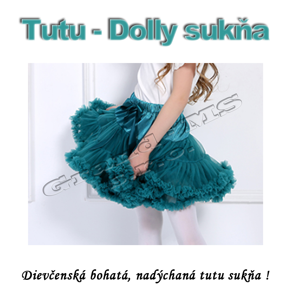 dbddf426ca06 Oblečenie  Tutu - Dolly sukňa pre dievčatá od 6 do 10 rokov - čierna ...