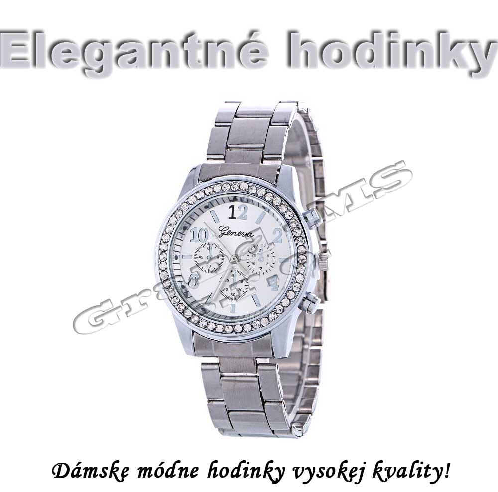 Ostatný tovar   Dámske elegantné hodinky Geneva RE025 strieborné 7bef7f18a9f
