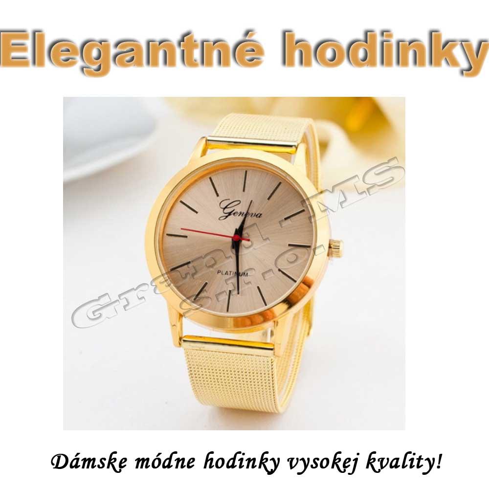 Ostatný tovar   Dámske elegantné hodinky Geneva platinum 1522629ef4