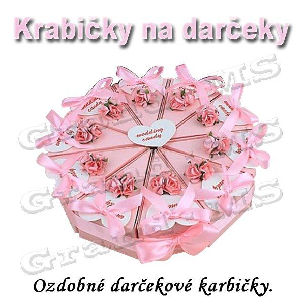 2280223e9 Ostatný tovar: Ozdobná krabička na tortu či darček, ružová - set