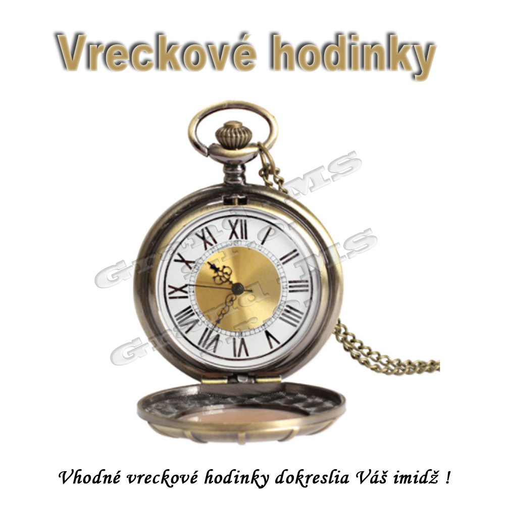 Ostatný tovar   Vreckové hodinky - s veľkým rímskym ciferníkom 92558948918