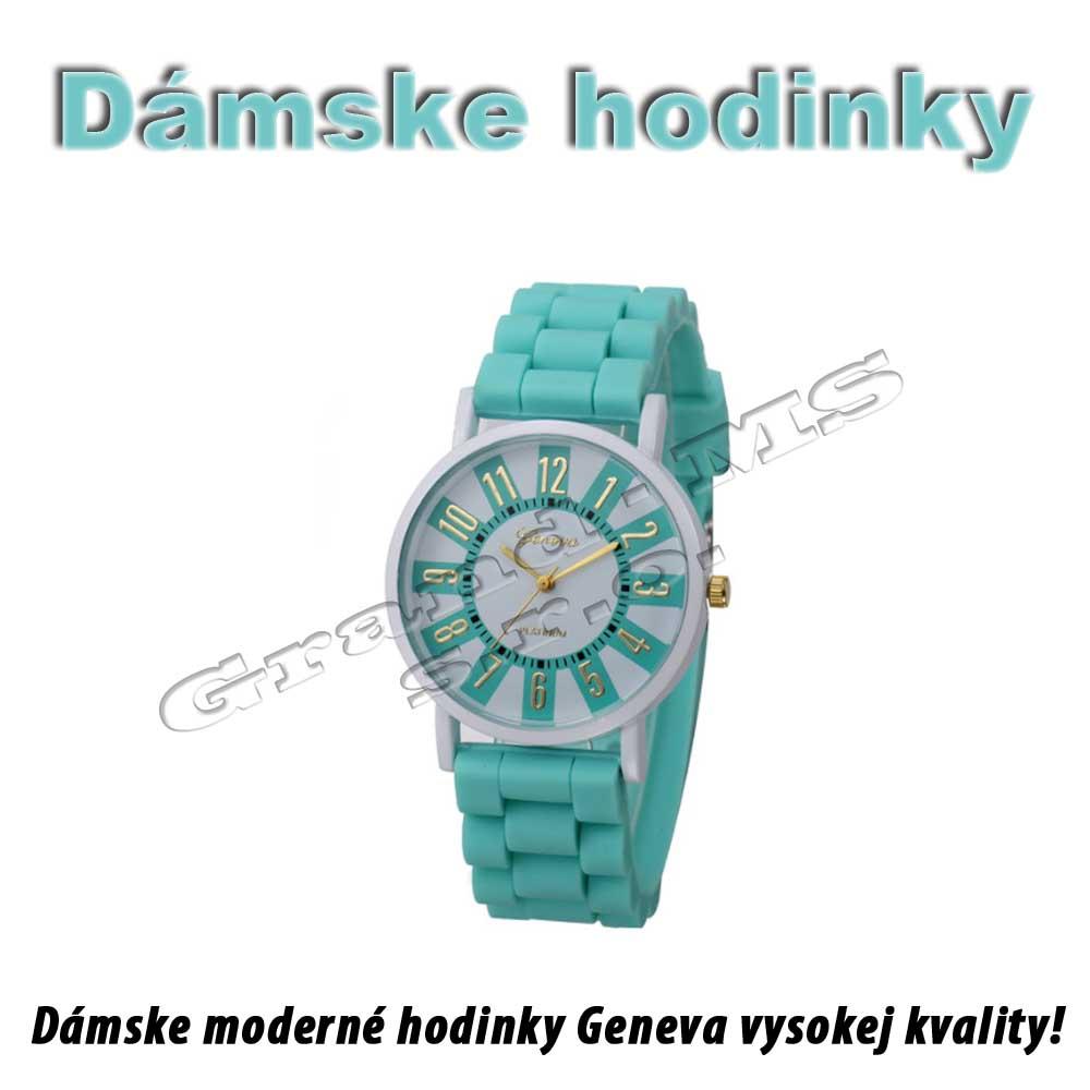 Ostatný tovar   Hodinky náramkové - Geneva platinum zelené - dámske 24a93b33c02