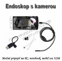 Endoskop s HD kamerou, 2 MPx, 640x480, 5.5mm, kábel 10m